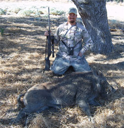 hunter howard and a hog