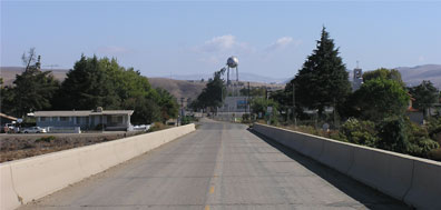 bridge into San Ardo